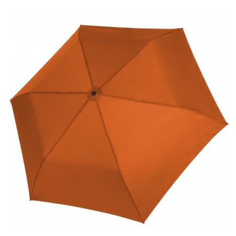 Oranžový dámský i dětský skládací mechanický deštník Aline Doppler