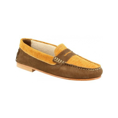 Leonardo Shoes 503 NABUK KAKI OCRA Hnědá