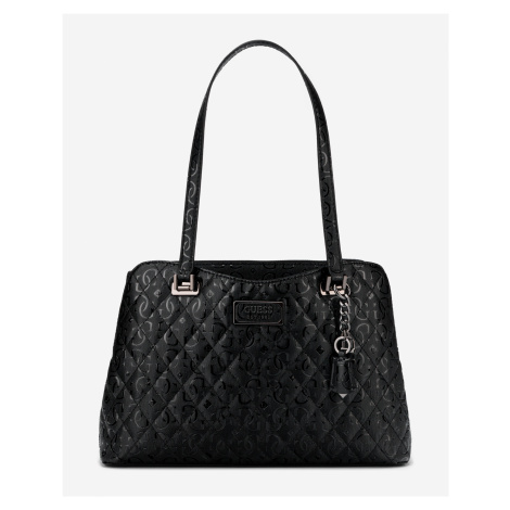 Guess černé kabelka Lola Glossy Logo Maxi