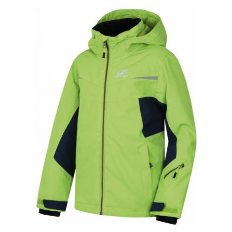 Dětská bunda Hannah Rocco JR lime green/midnight navy