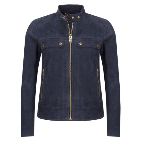 Tmavě modrá kožená bunda MICHAEL KORS