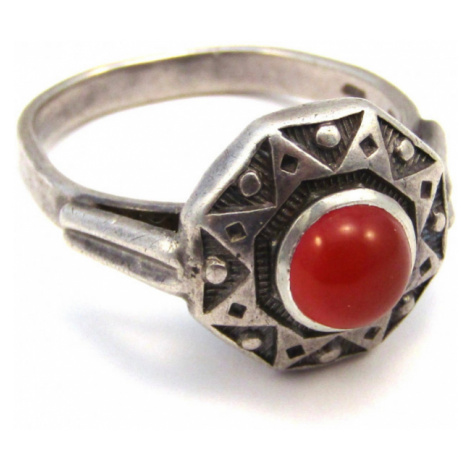 AutorskeSperky.com - Stříbrný prsten s karneolem - S1148