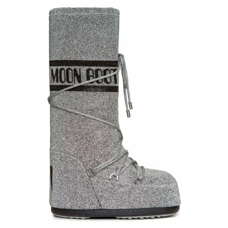 Sněhule Moon Boot CLASSIC 50 SWAROVSKI stříbrná
