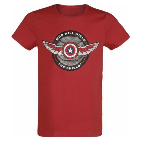 The Falcon And the Winter Soldier Who Will Wield The Shield? Tričko červená