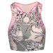 Sportovní top Adidas by Stella McCartney ASMC TPR CROP P vzorkování|růžová