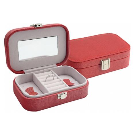 JK Box Červená šperkovnice SP-487/A7 JKbox