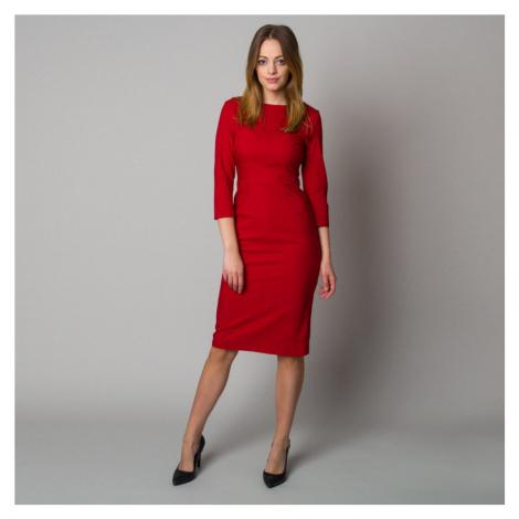 Midi šaty v tmavě červené barvě 12399 Willsoor