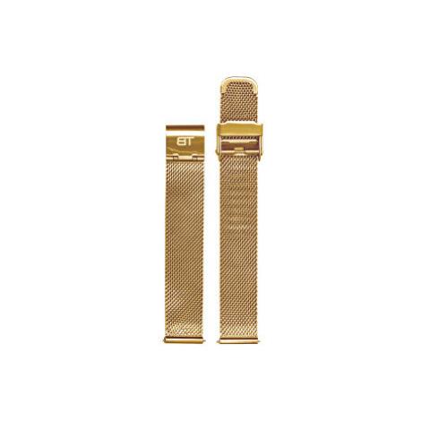 Bentime Kovový mesh s easy clickem - zlatý 18 mm