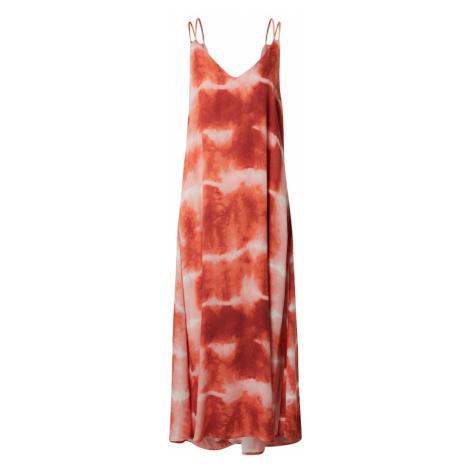 VILA Letní šaty 'CORBA' tmavě oranžová / starorůžová / oranžová