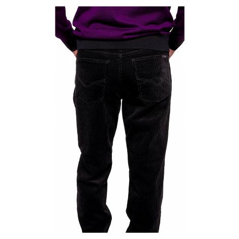 Černé manšestrové kalhoty Alain Delon