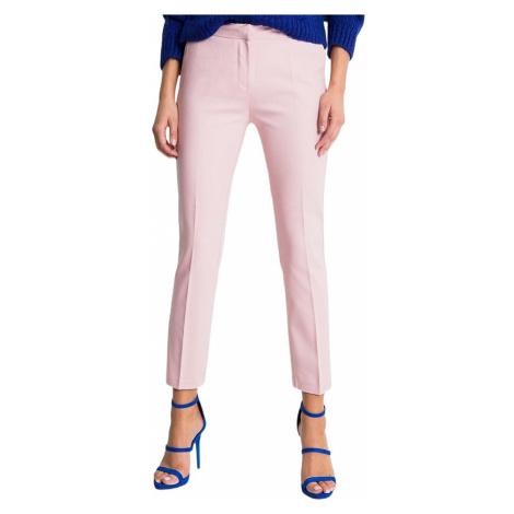 Světle-růžové dámské kalhoty s kapsami Rue Paris