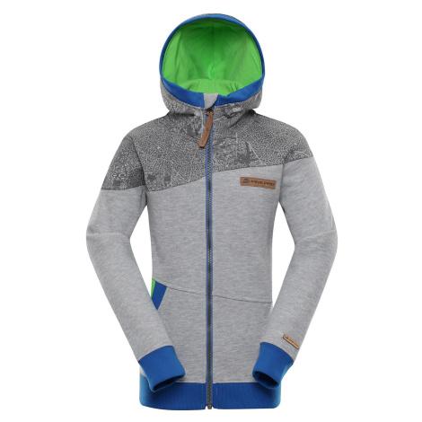 Dětská mikina Alpine Pro KORO - šedo-modrá