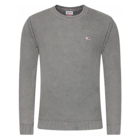 Tommy Hilfiger Tommy Jeans pánský šedý svetr TJM ESSENTIAL WASHED SWEATER