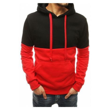Dstreet Trendová červená mikina s kapucí