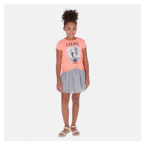 Dívčí šaty Mayoral 6986 | lososová