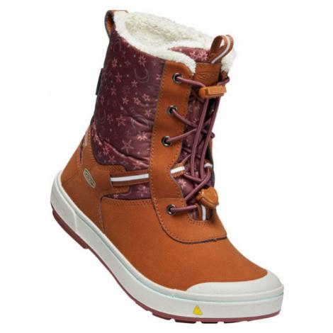 KEEN KELSA TALL WP Y Dětská zimní obuv 10007898KEN01 caramel cafe/harbor gray