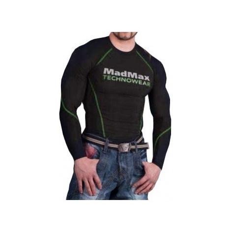MadMax Kompresní triko s dlouhým rukávem MSW902 černozelené