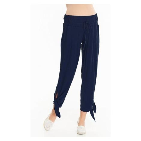 9fashion Těhotenské kalhoty Teris tmavě modré