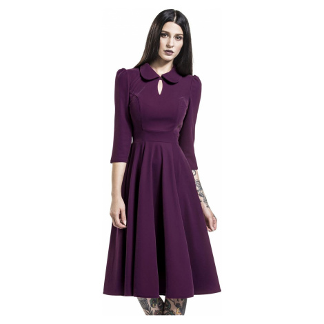 H&R London Glamorous Velvet Tea Dress šaty šeríková