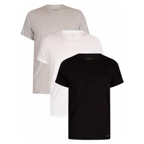 Calvin Klein - 3Pack pánských triček - černá, bílá, šedá