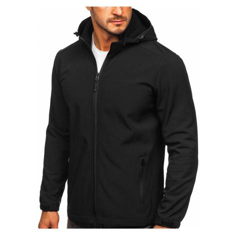 Černá pánská přechodová softshellová bunda Bolf HH017 J.STYLE