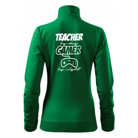 Teacher by Day Gamer by Night - Mikina dámská Viva bez kapuce