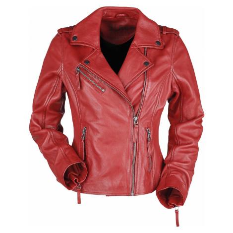 Black Premium by EMP Cervená kožená motorkárska bunda Dámská bunda červená