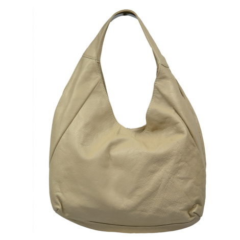 Kožená kabelka Tita Beige