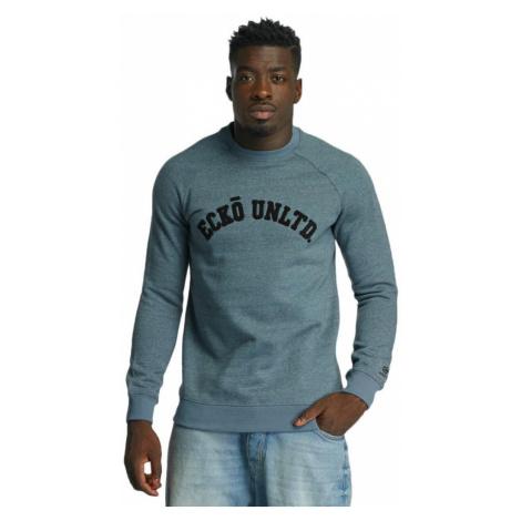 Ecko Unltd. mikina pánská Dagoba Melange Sweatshirt Blue Melange