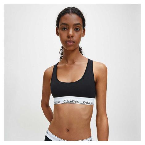 Černá braletka Unlined Bralette Modern Cotton Plus Calvin Klein