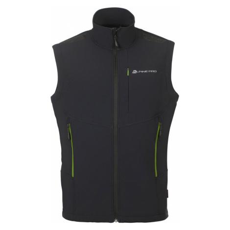 ALPINE PRO ASKLEPIOS 6 Pánská softshellová vesta MVEN053990 černá
