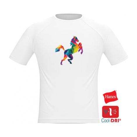 Pánské tričko SPORT Kůň z polygonů