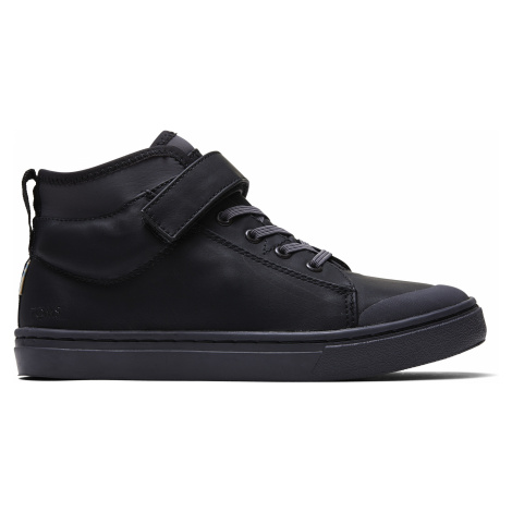 Black Leather Youth Cusco Sneak Toms