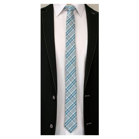 Zelená károvaná pánská kravata