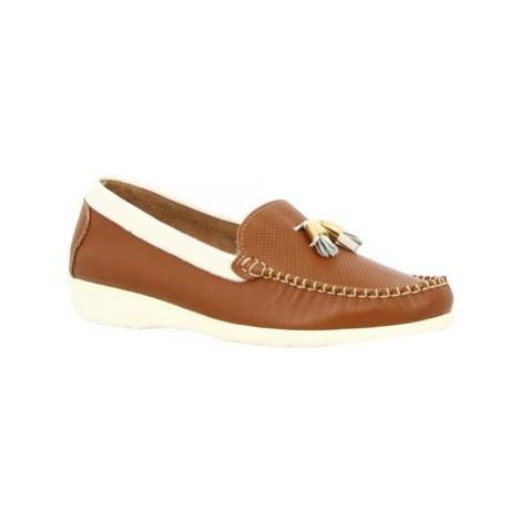 Leonardo Shoes 202VEN TAN BIANCO Hnědá