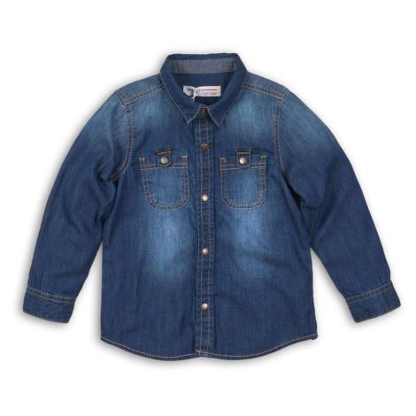 Modrá chlapecká džínová košile s dlouhým rukávem Jaydon Pidilidi