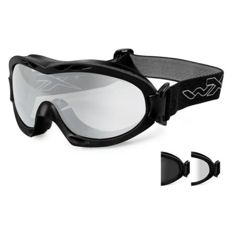 Ochranné brýle Nerve Wiley X®, 2 skla – Čiré + Kouřově šedé, Černá