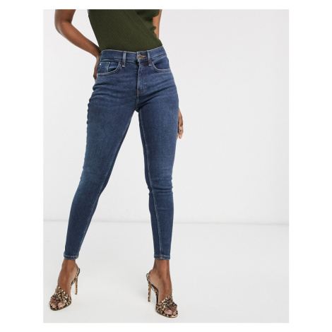River Island Amelie skinny jeans in dark wash blue