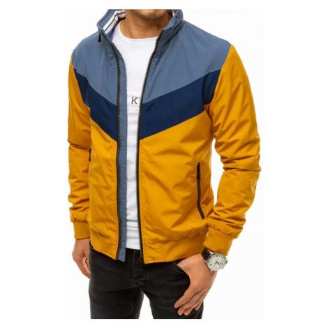 Dstreet Trendová přechodná bunda v žlutém provedení