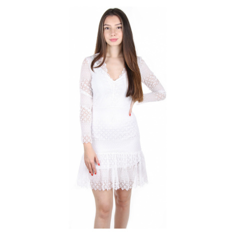 Guess dámské bílé krajkové šaty