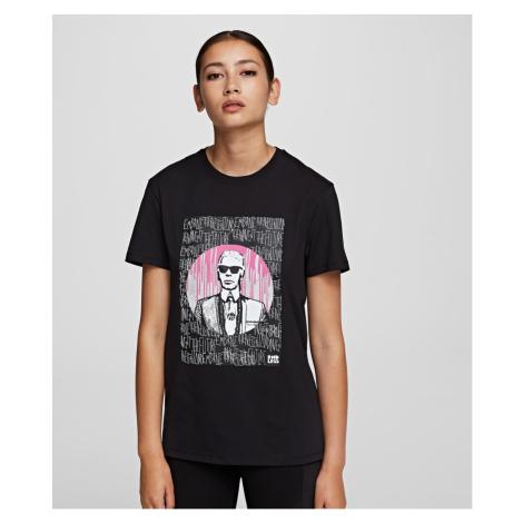 Tričko Karl Lagerfeld Karl X Endless T-Shirt - Černá