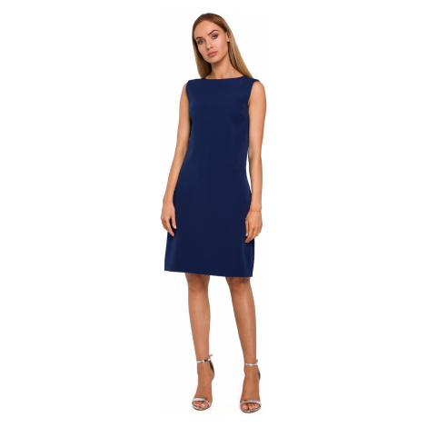 Made Of Emotion Woman's Dress M490 Navy Blue