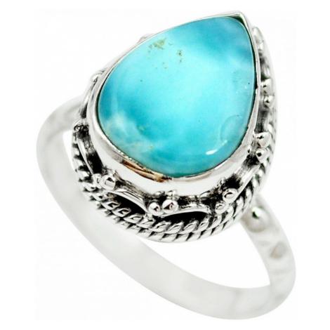 AutorskeSperky.com - Stříbrný prsten s larimarem - S2482