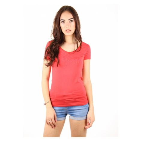 Pepe Jeans dámské červené tričko