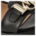 Černé kožené sandály - LOVE MOSCHINO