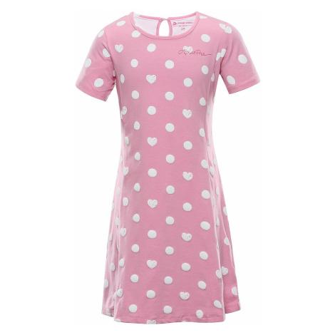 Dětské šaty Alpine Pro ZIADO - růžová