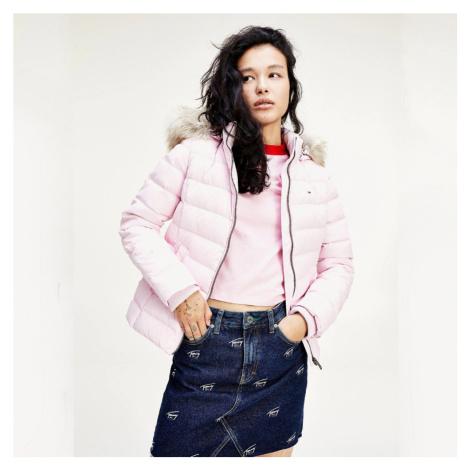 Tommy Jeans dámská růžová zimní bunda Tommy Hilfiger
