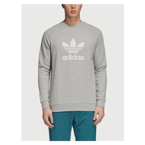 Mikina adidas Originals Trefoil Crew Šedá
