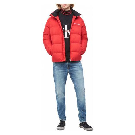 Calvin Klein pánská červená zimní bunda