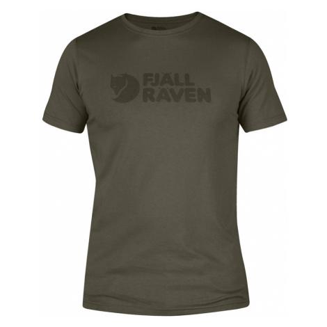 Tričko Fjällräven Logo T-shirt - Dark Olive